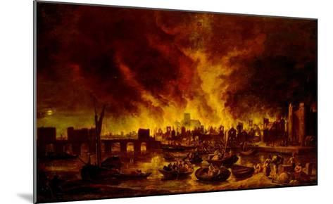 The Great Fire of London in 1666-Lieve Verschuier-Mounted Giclee Print