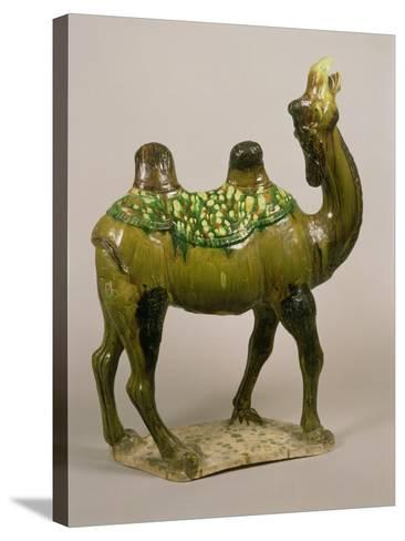 Pottery Chinese Wailing Camel, T'Ang Dynasty, 8th Century Pottery Wailing Camel, 8th Century--Stretched Canvas Print