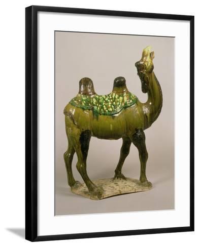 Pottery Chinese Wailing Camel, T'Ang Dynasty, 8th Century Pottery Wailing Camel, 8th Century--Framed Art Print