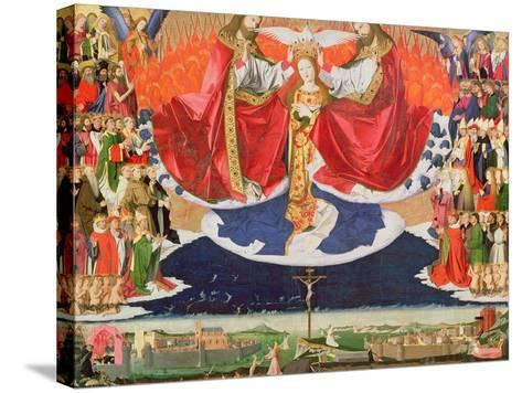 The Coronation of the Virgin, Completed 1453-Enguerrand Quarton-Stretched Canvas Print