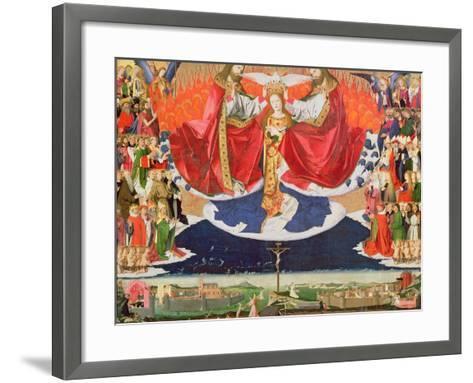 The Coronation of the Virgin, Completed 1453-Enguerrand Quarton-Framed Art Print