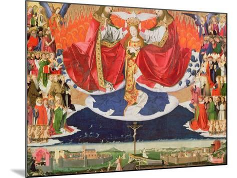 The Coronation of the Virgin, Completed 1453-Enguerrand Quarton-Mounted Giclee Print