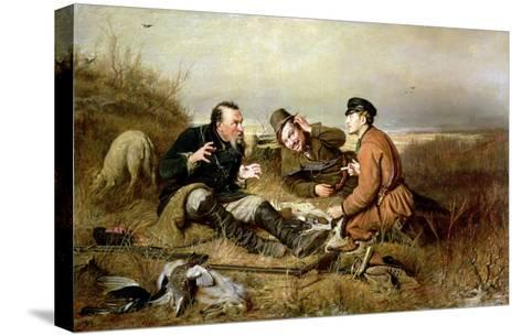 Hunters, 1816-Vasili Grigorevich Perov-Stretched Canvas Print
