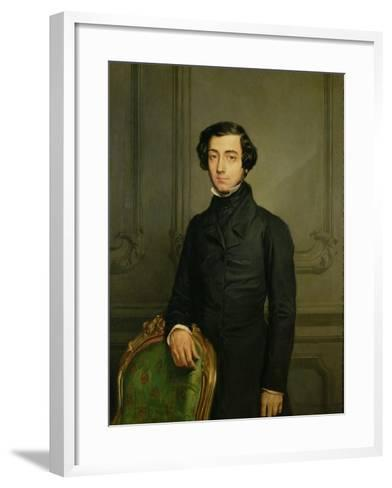 Charles-Alexis-Henri Clerel De Tocqueville (1805-59) 1850-Theodore Chasseriau-Framed Art Print