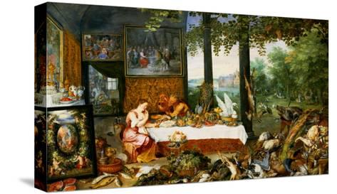 The Sense of Taste, 1618-Jan Brueghel the Elder-Stretched Canvas Print
