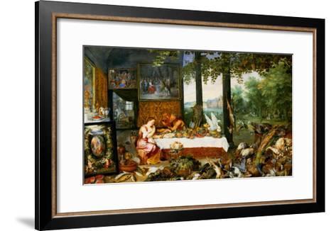 The Sense of Taste, 1618-Jan Brueghel the Elder-Framed Art Print