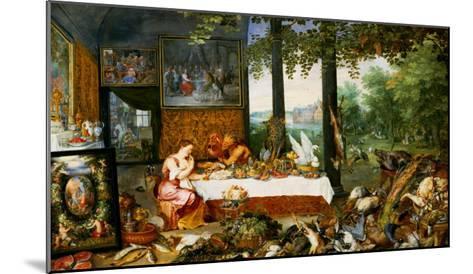 The Sense of Taste, 1618-Jan Brueghel the Elder-Mounted Giclee Print