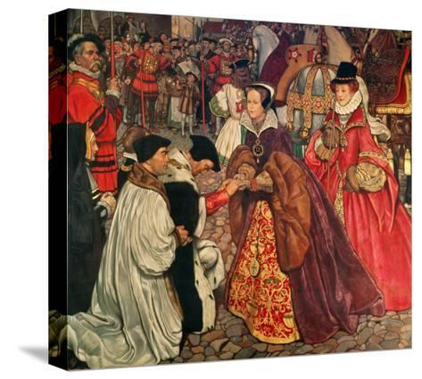 Queen Mary and Princess Elizabeth Entering London, 1553-John Byam Shaw-Stretched Canvas Print