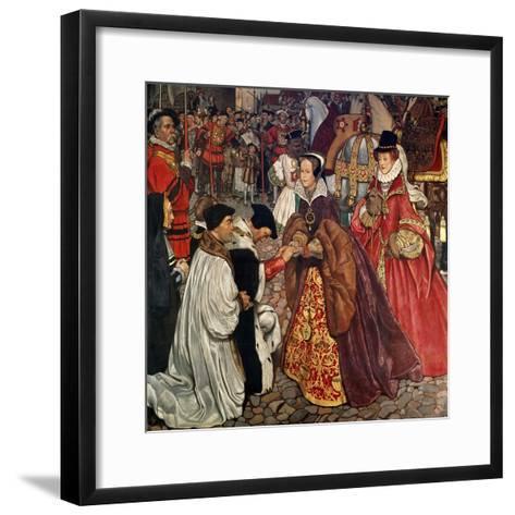 Queen Mary and Princess Elizabeth Entering London, 1553-John Byam Shaw-Framed Art Print