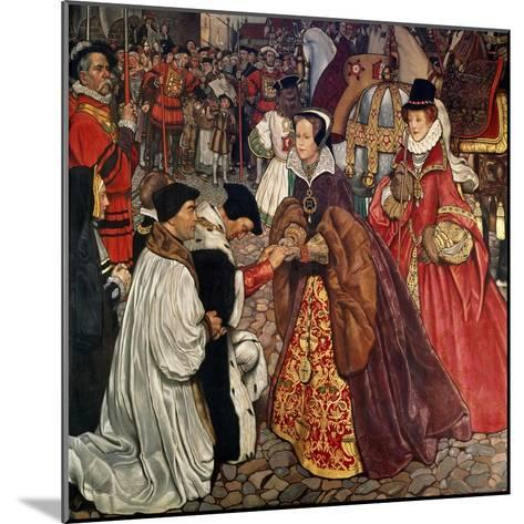 Queen Mary and Princess Elizabeth Entering London, 1553-John Byam Shaw-Mounted Giclee Print