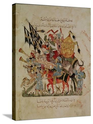 """Caravan Going to Mecca from """"The Maqamat"""" (""""The Meetings""""), Illustrated by Hariri--Stretched Canvas Print"""