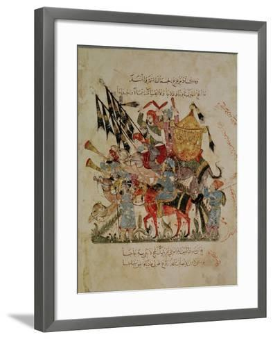 """Caravan Going to Mecca from """"The Maqamat"""" (""""The Meetings""""), Illustrated by Hariri--Framed Art Print"""