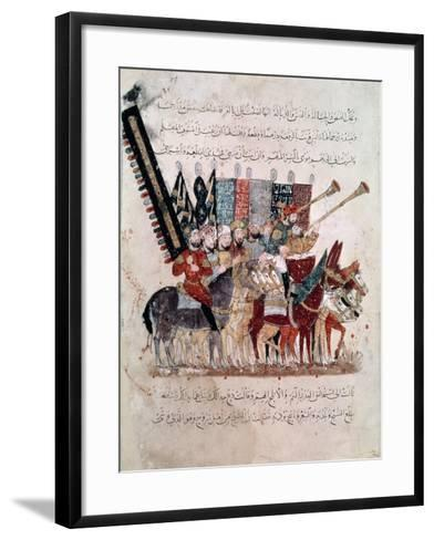 "Celebration of the End of Ramadan, from ""The Maqamat"" (""The Meetings"") Illustrated by Hariri--Framed Art Print"