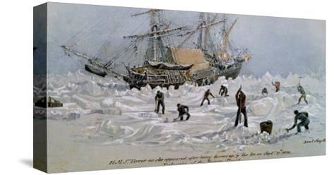 Hms Terror as She Appeared after Being Thrown up by the Ice in Frozen Channel, September 27th 1836-Lieutenant Smyth-Stretched Canvas Print