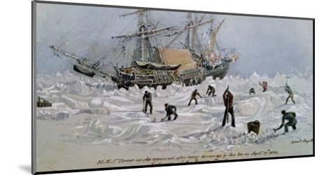 Hms Terror as She Appeared after Being Thrown up by the Ice in Frozen Channel, September 27th 1836-Lieutenant Smyth-Mounted Giclee Print