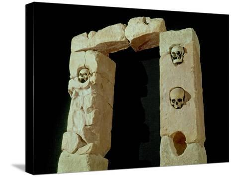 Doorway with Skulls, from the Sanctuary of Roquepertuse, Gaule, La Tene II Civilization--Stretched Canvas Print