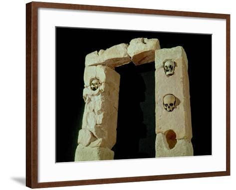 Doorway with Skulls, from the Sanctuary of Roquepertuse, Gaule, La Tene II Civilization--Framed Art Print