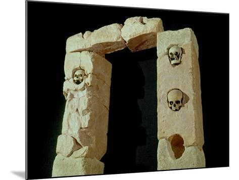 Doorway with Skulls, from the Sanctuary of Roquepertuse, Gaule, La Tene II Civilization--Mounted Giclee Print