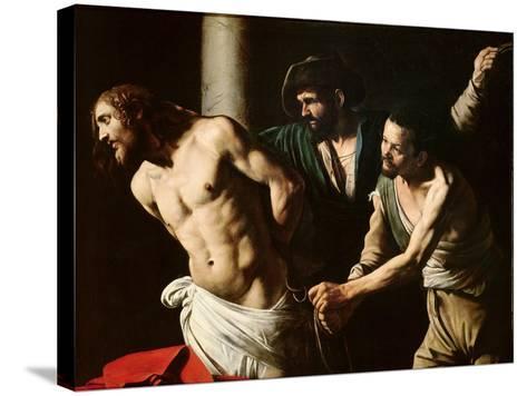 The Flagellation of Christ, circa 1605-7-Caravaggio-Stretched Canvas Print