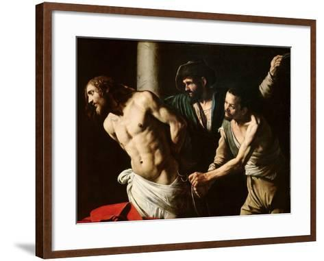 The Flagellation of Christ, circa 1605-7-Caravaggio-Framed Art Print
