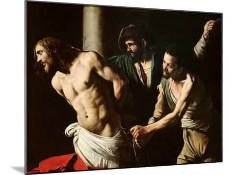 The Flagellation of Christ, circa 1605-7-Caravaggio-Mounted Giclee Print