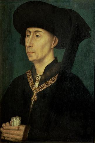 Portrait of Philip the Good (1396-1467) Duke of Burgundy-Rogier van der Weyden-Stretched Canvas Print