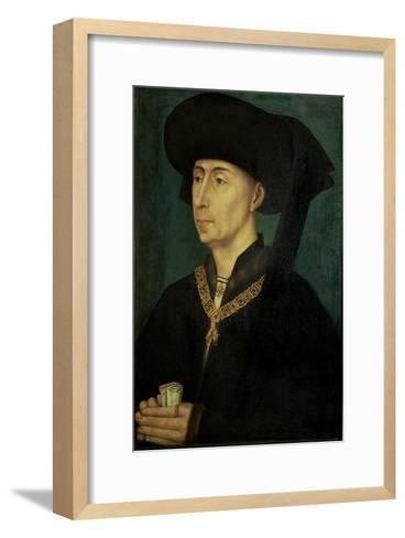 Portrait of Philip the Good (1396-1467) Duke of Burgundy-Rogier van der Weyden-Framed Art Print
