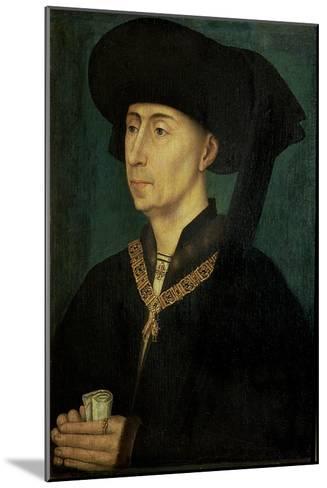 Portrait of Philip the Good (1396-1467) Duke of Burgundy-Rogier van der Weyden-Mounted Giclee Print