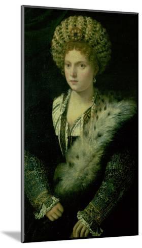 Portrait of Isabella D'Este (1474-1539)-Titian (Tiziano Vecelli)-Mounted Giclee Print