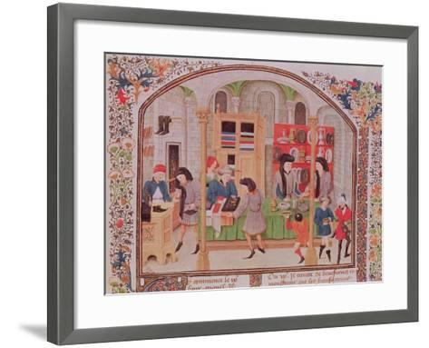 The Mint, from Aristotle's Ethics, Politics, Economics from a French Translation by Nicholas Oreme--Framed Art Print
