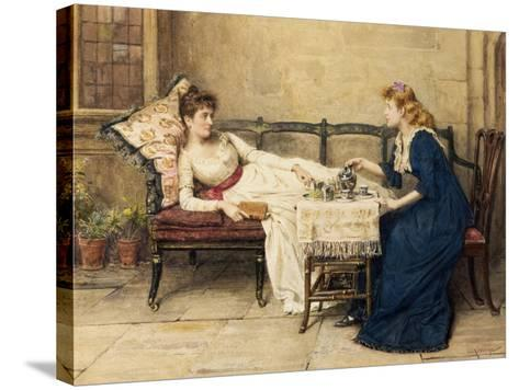 Afternoon Tea-George Goodwin Kilburne-Stretched Canvas Print