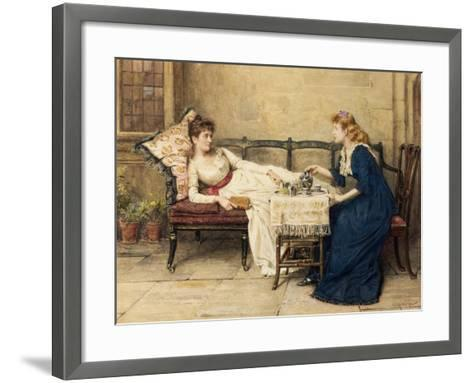 Afternoon Tea-George Goodwin Kilburne-Framed Art Print
