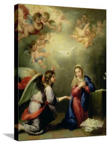 The Annunciation-Bartolome Esteban Murillo-Stretched Canvas Print