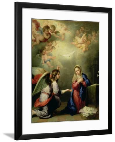 The Annunciation-Bartolome Esteban Murillo-Framed Art Print