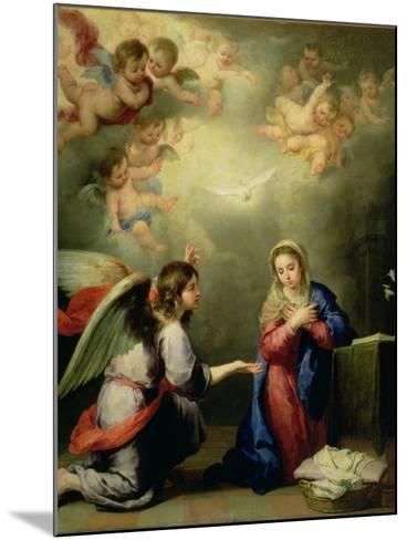 The Annunciation-Bartolome Esteban Murillo-Mounted Giclee Print