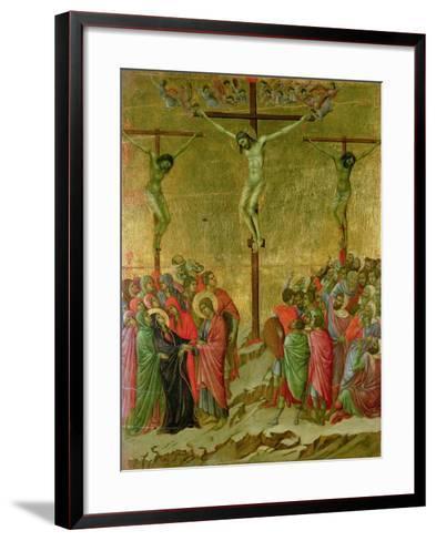 Crucifixion-Duccio di Buoninsegna-Framed Art Print