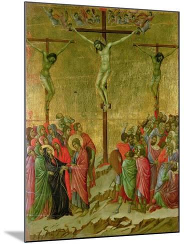 Crucifixion-Duccio di Buoninsegna-Mounted Giclee Print