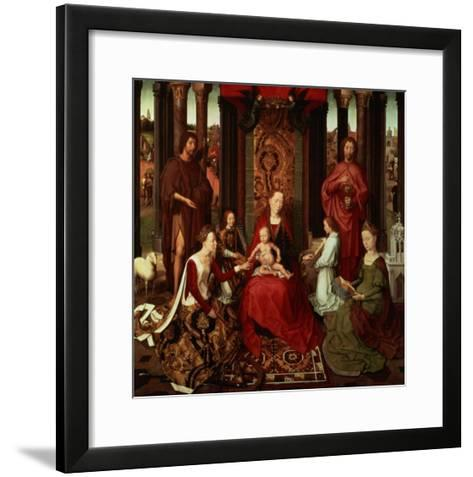 Mystic Marriage of St. Catherine and Other Saints-Hans Memling-Framed Art Print