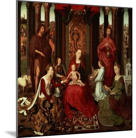 Mystic Marriage of St. Catherine and Other Saints-Hans Memling-Mounted Giclee Print
