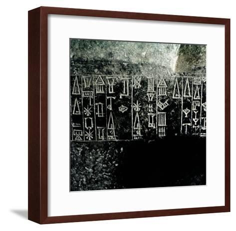 Cuneiform Script--Framed Art Print