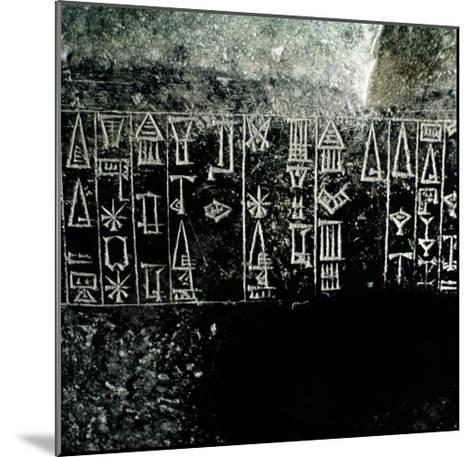 Cuneiform Script--Mounted Giclee Print