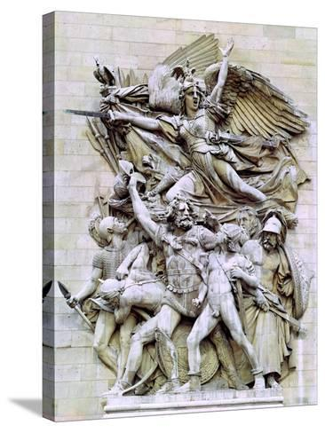 La Marseillaise, Detail from the Eastern Face of the Arc De Triomphe, 1832-35-Francois Rude-Stretched Canvas Print