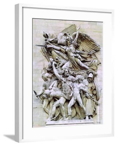 La Marseillaise, Detail from the Eastern Face of the Arc De Triomphe, 1832-35-Francois Rude-Framed Art Print