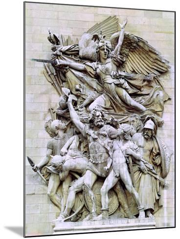 La Marseillaise, Detail from the Eastern Face of the Arc De Triomphe, 1832-35-Francois Rude-Mounted Giclee Print