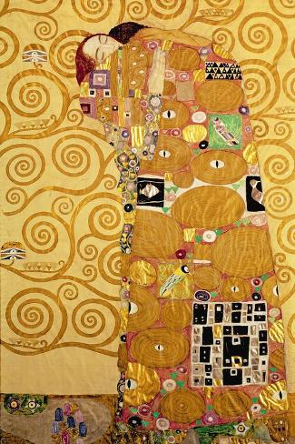 Fulfillment, Stoclet Frieze, c.1909-Gustav Klimt-Stretched Canvas Print