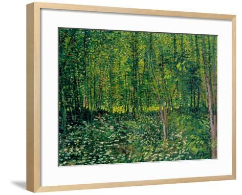 Woods and Undergrowth, c.1887-Vincent van Gogh-Framed Art Print