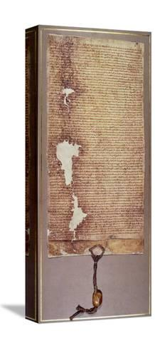 The Magna Carta of Liberties, Third Version Issued in 1225 by Henry III--Stretched Canvas Print