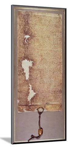 The Magna Carta of Liberties, Third Version Issued in 1225 by Henry III--Mounted Giclee Print