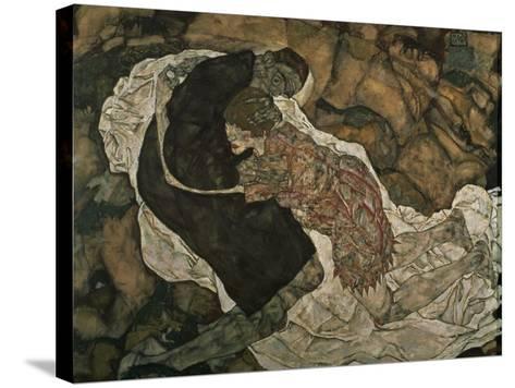 Death and the Maiden (Mann Und Madchen), 1915-Egon Schiele-Stretched Canvas Print