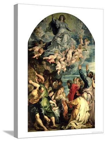 The Assumption of the Virgin Altarpiece, 1611/14-Peter Paul Rubens-Stretched Canvas Print